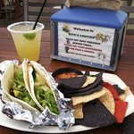 RC's fresh fruit juice margarita and tacos.