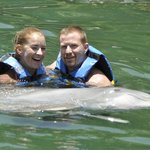 couples dolphin hold