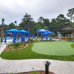 Putting Green, Pool and Cabanas
