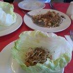 Pork stuffed lettuce.... nice.
