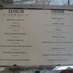 Lanch menu