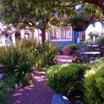 Relaxing gardens at Old St Angela's Inn.  Perfect for breakfast, the wine reception or just read
