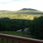 The White Mountains from our balcony