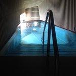 Entrée de la piscine sur le toit