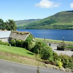 a view to the fine restored Briar Cottage House and the Loch Earn