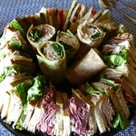 Sandwich platter made to carry out for parties