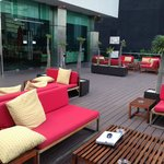 Roof lounge area