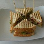 """Dagobert"" sandwich at Taste of Belgium."