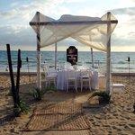 50th wedding anniversary dinner we had on beach area