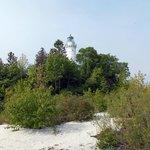 View from Lake Michigan shoreline