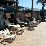 Pool cabanas at the family pool