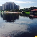 Lake view on the kayak