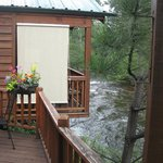Looking to Creek View cabin. All have privacy screens on decks.