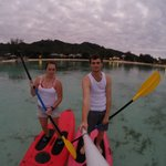 Paddle boarding in muri lagoon