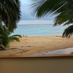 from the balcony of beach Bungalow.