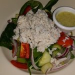 Crab and spinach salad was delicious