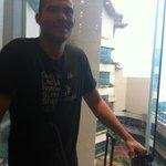 Big, glass elevator!