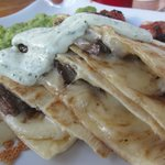 Baja Quesadilla with Added Steak