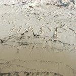 Happy at the beach.