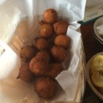 Hush puppies were the best that I have ever had!! Smoking hot when they arrived at the table.