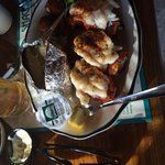 Excellent lobster tails!  Tender and hot