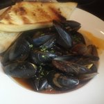 Steamed mussels in a light curry broth