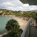 Praia vista do terraço