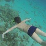 Underwater, na praia do hotel