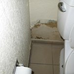 Severe water damage in the bathroom