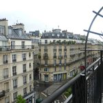 Great view from room- very Parisian!