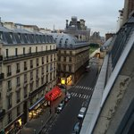 View from our balcony - to the louvre and tuileries garden