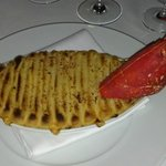 Lobster pie, good, but rather bland