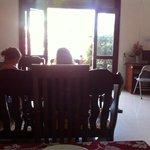 Breakfast room inside or outside.