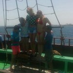 These boys are crazy lol lying on sharp objects on a rocky boat lol. Was very funny. But thank.y