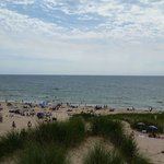 Beach from top of sand dune