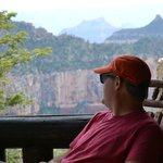 Looking out over the north rim from the front porch of cabin 309