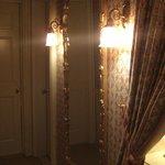 Lighting fixtures in ladies room