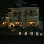 The outside of Inn at night