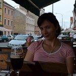I and my wife in Cihelna La Familia, July-2014
