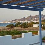 Honeymoon Suite terrace with view of Chora
