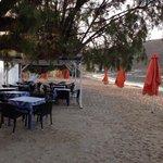 The Isalos fish restaurant opposite the Isalos mini hotel.