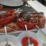 Блюдо ресторана морепродуктов