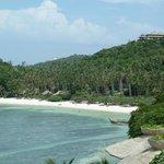"plage sable blanc devant ""Haad Tien beach"""
