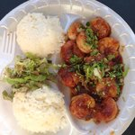 Dozen grilled shrimp plate.....14$
