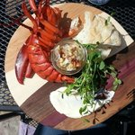 Lobster platter on the patio summer 2014