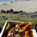 Fish and chips with a sea view