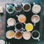 Free tasters at the coffee plantation