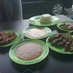 chicken satay and beef satay
