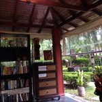 Reading hut with books