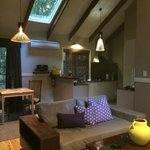 The living and dining area/kitchen